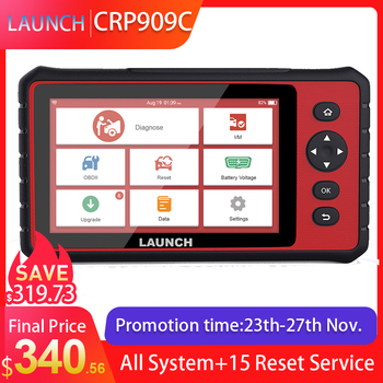 LAUNCH X431 CRP909C OBD2 Scanner Professional OBD 2 Car Diagnostic Scanner Airbag SAS TPMS IMMO Reset OBD Code Reader LAUNCH ODB launch x431 crp123i obd obd2 coder reader scanner 4 system diagnostic obd 2 auto scanner car diagnostic tool vs crp123x crp123e