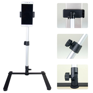 Image 2 - for Photograph Equiment Mini Monopod+Phone Clip Fill In Light Bluetooth Control Adjustable Table Top Stand Set