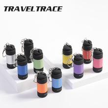 Mini LED Flashlight Keychain Portable USB Rechargeable Colourful Small Tactical Flashlight Torch Outdoor Lighting Switch Strobe