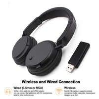 TV Wireless Headset Wiederaufladbare Multifunktions Stereo Kopfhörer Écouteur mit radio fm sender für TV PC Pad Handys MP3