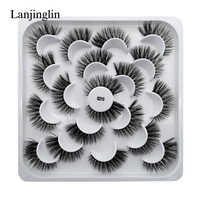1/5/7/10 Pairs 3D Eyelashes Hand Made Natural Long Faux Mink Lashes High Quality False Lashes Extensions Maquiagem Makeup Tool
