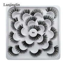 1/5/7/10 Pairs 3D Eyelashes Hand Made Natural Long Faux Mink Lashes High Quality False Extensions Maquiagem Makeup Tool