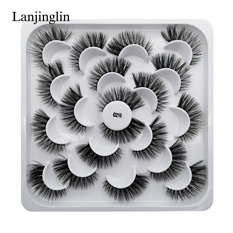 5/7/10 Pairs 3D Eyelashes Hand Made Natural Long Faux Mink Lashes High Quality False Lashes Extensions Maquiagem Makeup Tool