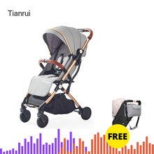 Babyyoya Tianrui lightweight portable folding baby stroller can sit can lie one key operation  easy for travel Free mummy bag