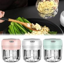 Electric Garlic Masher Sturdy Meat Crusher Meat Grinder Durable Mini Crusher Chopper USB Charging For Crushed Garlic Ginger Chil