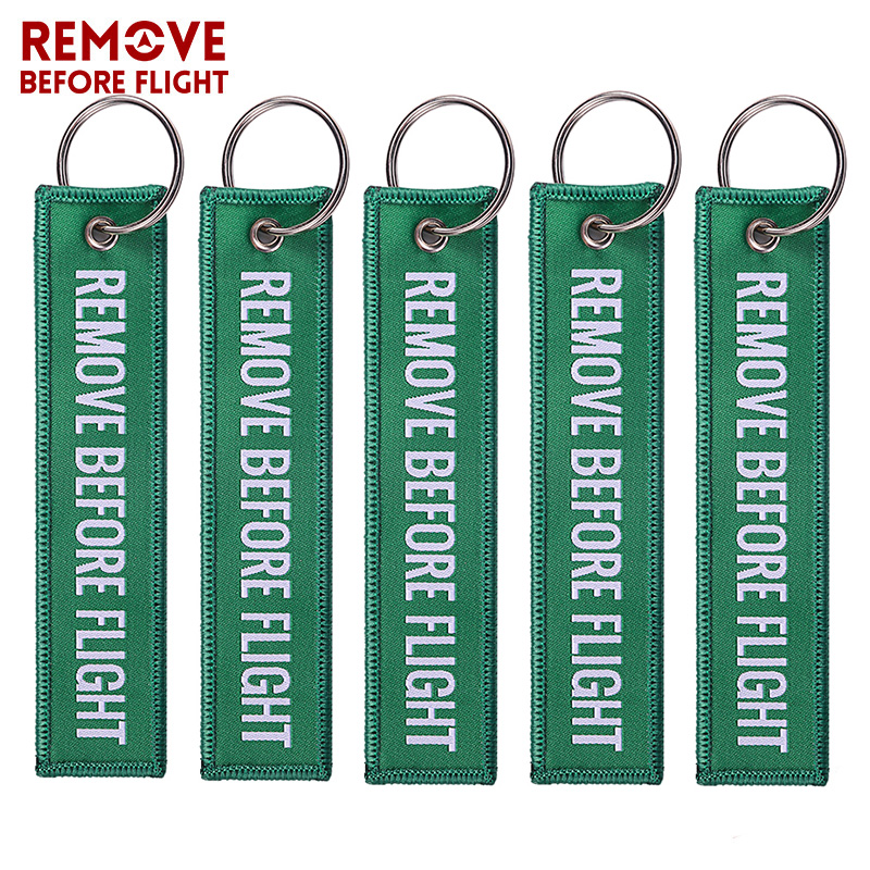 Remove Before Flight Red Embroidery Key Chains Special 5