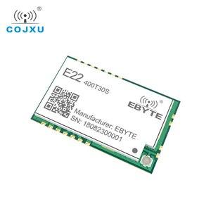 Image 4 - SX1268 LoRa TCXO 433MHz 30dBm E22 400T30S SMD UART Draadloze Transceiver IPEX Stempel Gat 1W Lange Afstand Zender en ontvanger