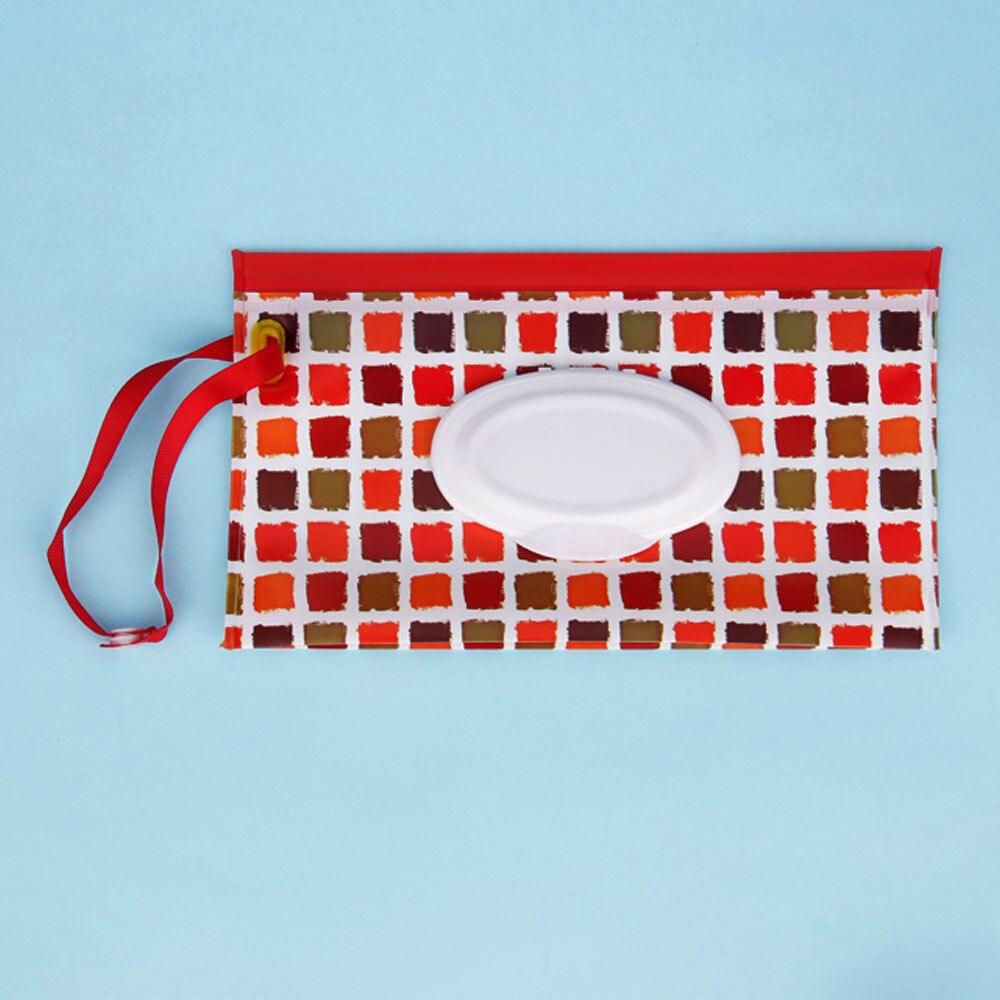 Уход за ребенком влажный пылесос экологически чистый влажный тканевый чехол чистящие салфетки контейнер портативный влажные салфетки для экрана EVA застежка-молния салфетки мешок - Цвет: I