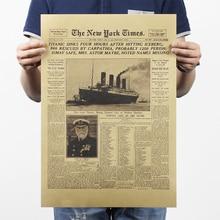 Cartel clásico de papel Kraft de la Vendimia del New York Times de la revista Art Cafe Bar Decoración Retro Posters e impresiones 51*35,5
