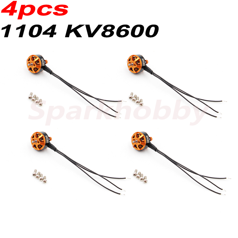 4PCS Brand New 1104 8600KV 2-3S Brushless Motor Thread CW For RC Airplane FPV Helicopter Racing Drones Accesorios Parts