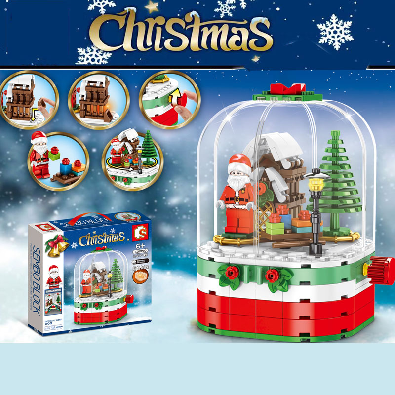 New Christmas Creator Sets Santa Village Snow House Model Building Kits Blocks Bricks Toys Legoinglys Christmas Gift No Box