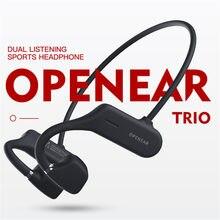 2021 nova condução óssea fones de ouvido bluetooth 5.0 sem fio não in-ear fone de ouvido sweatproof à prova dearphones água esporte fones de ouvido