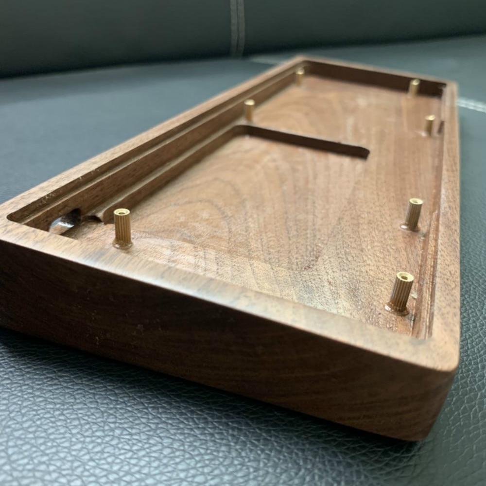 GK61 GK64S Walnut Wooden Case Pear Wood Shell Mechanical Keyboard DIY Wooden Case Keyboard For GK61 GK64S GK61X 61XS GK64X 64XS