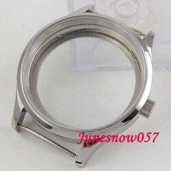 43mm przypadku zegarka szafirowe szkło stal nierdzewna 316L Fit ETA 6497 6498 ręczne nakręcanie ruch C145|Tarcze do zegarków|Zegarki -