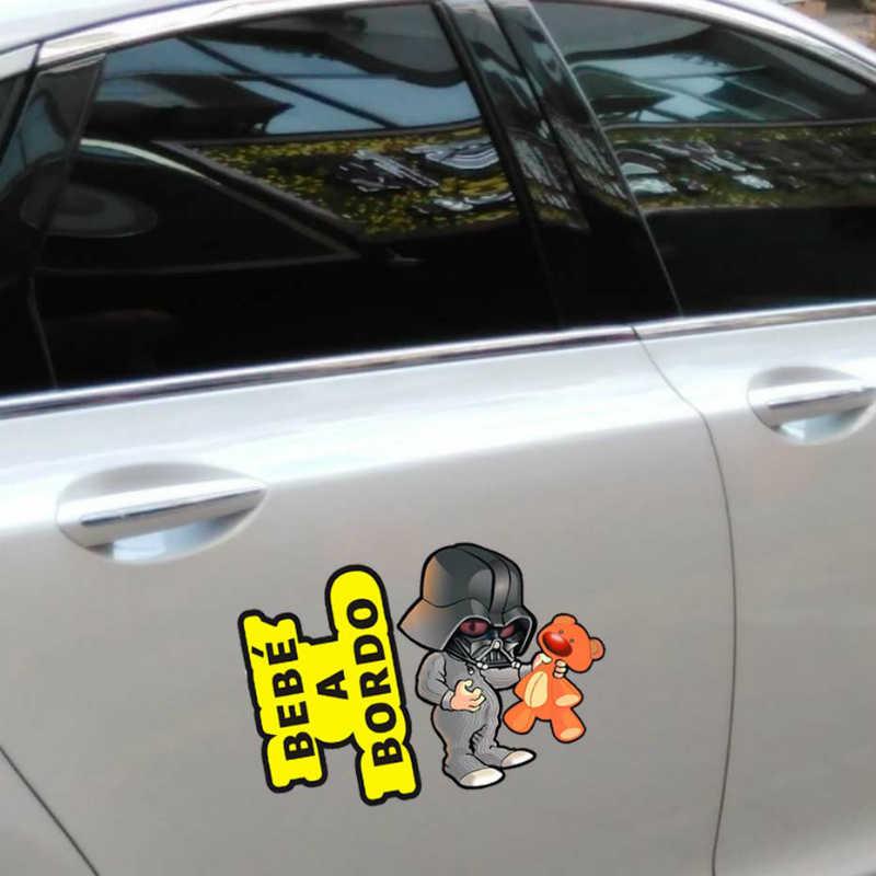 Volkrays Bebe A Bordo ฮีโร่รถสะท้อนแสงสติกเกอร์และรูปลอกสำหรับ Volkswagen Skoda Honda Hyundai Kia Lada Opel GOLF