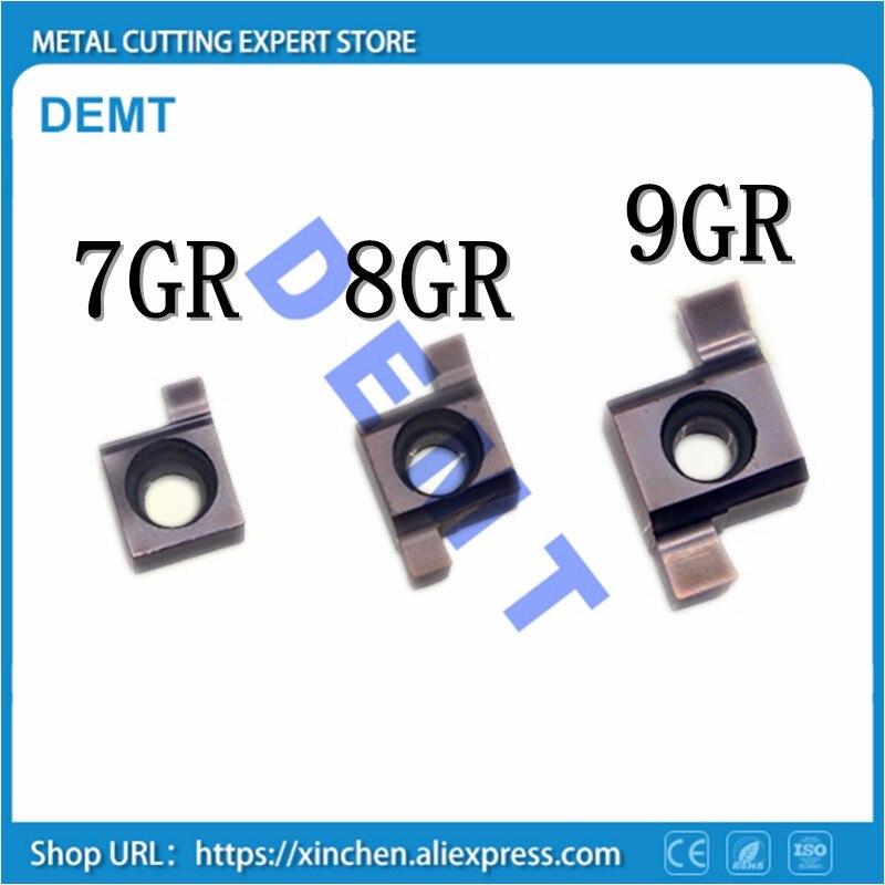 10PCS 6GR 7GR 8GR 9GR Inside Groove Carbide Turning Inserts.7GR 8GR 9GR 100/150/200/250/300 Suit For Grooving Turning Tools SNGR