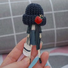 Woman cute lovely Brooch wool Hat badges Brooches Pins Fashi