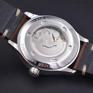 Image 5 - Corgeut 42 Mm Mannelijke Horloge Automatische Luxe Merk Sport Ontwerp Saffierglas Klok Lederen Zelf Wind Mechanische Horloges
