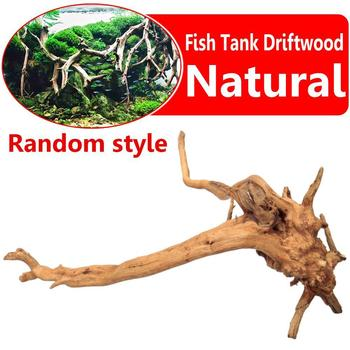 Aquarium Non-toxic Natural Tree Trunk Driftwood Fish Tank Landscap Ornament image