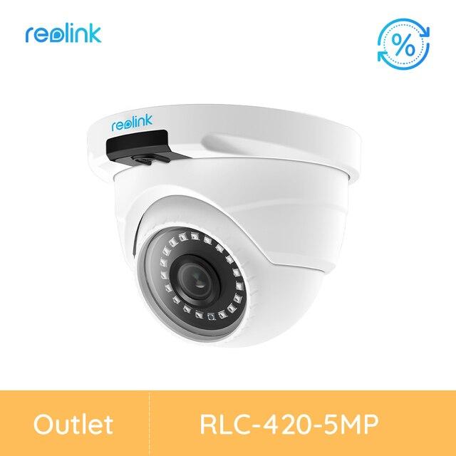 [Refurbished Camera] Reolink Security Camera Dome SD Card Slot Nightvision Video Surveillance Camera RLC-420-5MP Outdoor Camera