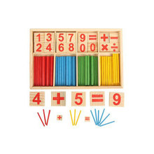 Dropshipping Math Toys Montessori Mathematical  Wooden Puzzle Counting Sticks Toys Baby Education Toys new arrival baby education math toys wooden counting sticks toys montessori mathematical baby gift wooden box dropship