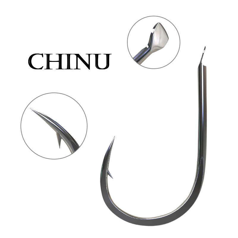 100 X Sz4 BARBED CHINU FISHING HOOKS GREAT FOR ALL RIGS