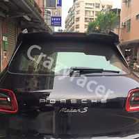 3PCS Carbon Fiber Rear Roof Lip Spoiler Wing for Macan 2014-2015 GSC Style
