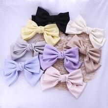 Женские заколки для волос с большим бантом для девушек фиолетовые атласные головные уборы женские аксессуары для волос милые однотонные за...