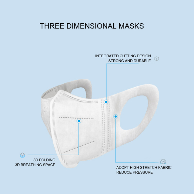 【10pcs/Bag】NAFY 3D Face Mask Protective Mask 3 Layer Mouth Masks Disposable Anti-Fog Filter Mask Wholesale 3