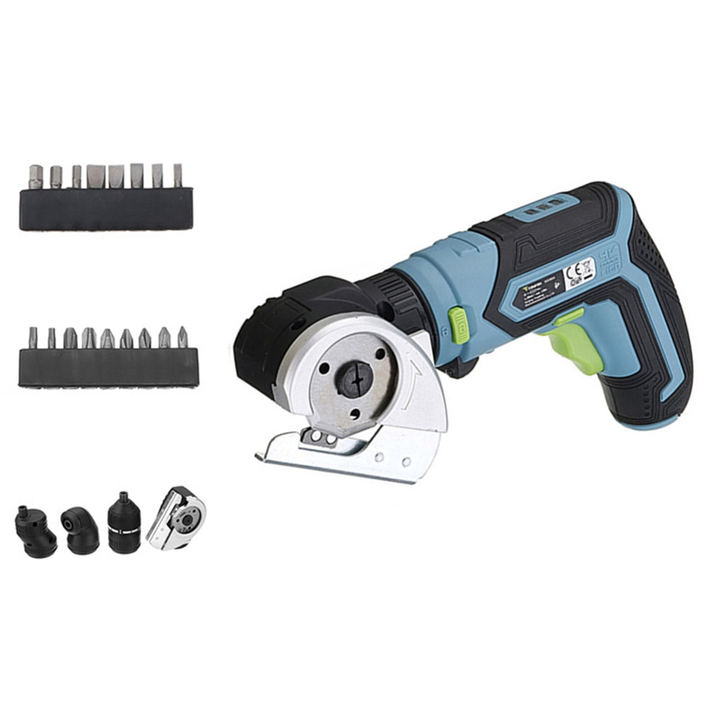 Tonfon 4 In 1 Multifunction 3.6V Lithium Mini Cordless Electric Screwdriver Electric Cutter Offset Angle Right Angle