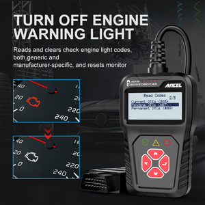 Image 4 - Ancel AS100 Obd2 سيارة أداة تشخيص OBD 2 السيارات الماسح الضوئي محرك محلل أداة رمز القارئ Obdii أداة مسح ضوئي PK ELM327 v1.5
