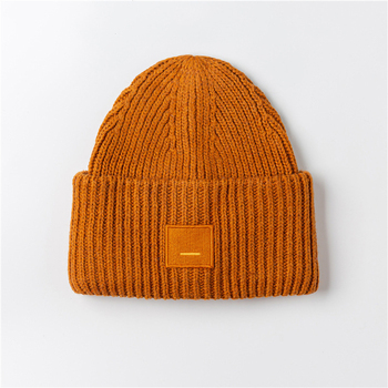 2020 New Acne unisex women's autumn and winter hats Angora100% double layer warm hat Skulies wool hat Warm knitted hat 16