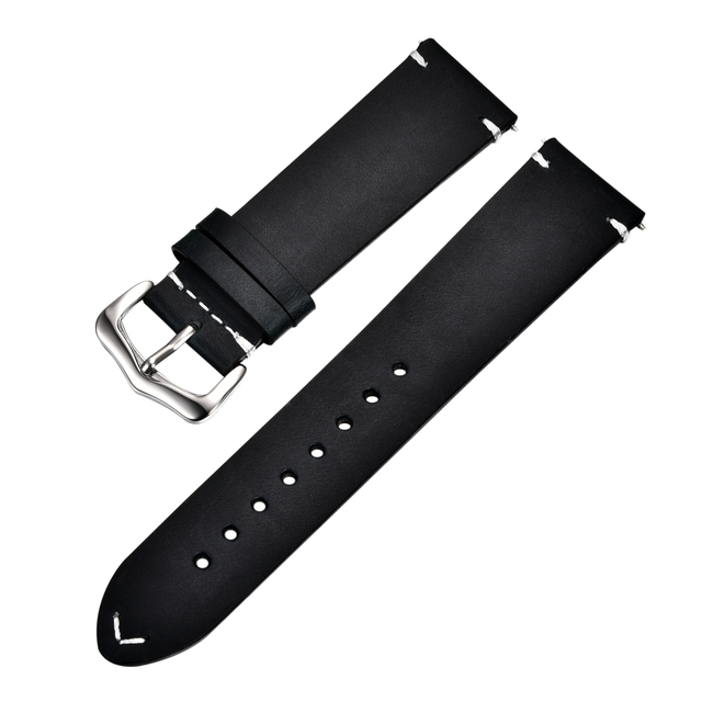 Retro Cowhide Leather Watchband (Multiple Colours) 6