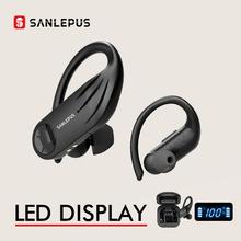 SANLEPUS B1 TWS słuchawki bezprzewodowe słuchawki Bluetooth słuchawki douszne sportowe słuchawki treningowe dla Xiaomi Huawei Android Apple cheap Zaczep na ucho Technologia hybrydowa CN (pochodzenie) wireless 120±5dBdB Nonem Do Internetu Bar Do Gier Wideo Wspólna Słuchawkowe