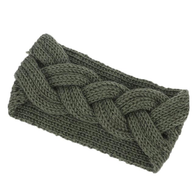 Winter Warmer Ear Knitted Headband Turban For Lady Women Crochet Bow Wide Stretch Hairband Headwrap