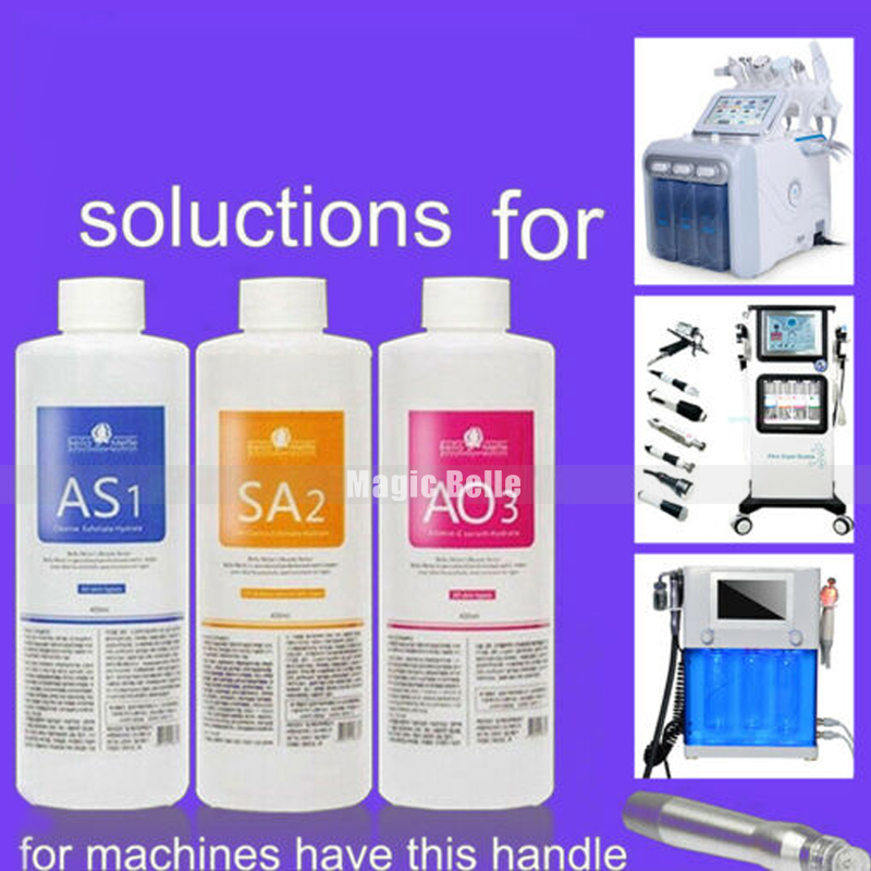Hot Sales Hydra Facial Machine Use AS1 SA2 AO3 Aqua Peeling Solution 400 Ml Per Bottle Hydra Facial Serum For Normal Skin