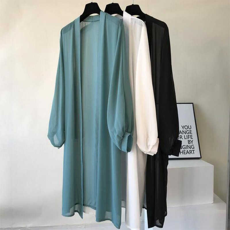 2020 Lantern Sleeve Long Blouses Kimono