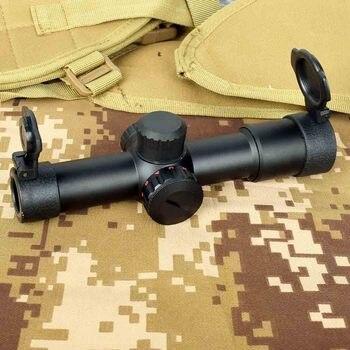 Tactical ak47 ak74 ar15 caça escopo 4.5x20 e iluminação vermelha mil-ponto riflescope
