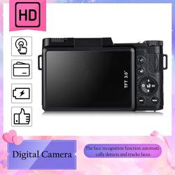 Professional 3.0 Inch LCD Display 1080P Video Digital Camera 4X Zoom 24MP Rotary Screen Selfie Digital Camera fotografica