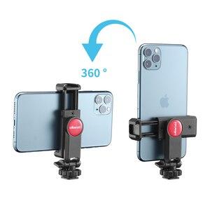 Image 3 - ULANZI 360 Telefone Tripé Flexível Montar Titular da Braçadeira com Sapata Fria para iPhone Samsung DSLR câmera de monitoramento