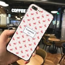 цена на For Samsung galaxy s10 S9 S8 Plus Phone case  PINK flamingo Case For Samsung Galaxy S8 S9 S10 Plus Black silicone Cover Soft TPU