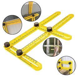 Szablon wielu linijka kątowa 4 kąt składany przyrząd pomiarowy Instrument ceglana płytka produkty z drewna narożnego składany kątomierz linijki w Wskaźniki od Narzędzia na