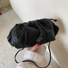 Brand Design Shoulder Messenger Bags for Women Weaving Purse