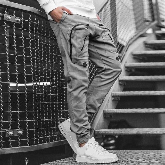 Streetwear Hip hop Joggers Pants Men Loose Harem Pants Ankle Length Trousers Sport Casual Sweatpants White Techwear  1.13 4