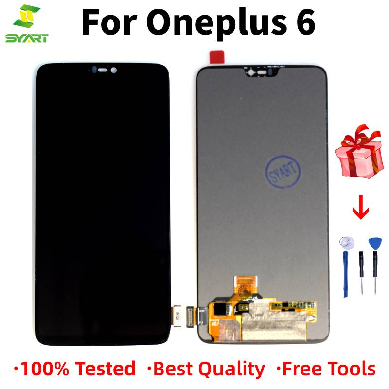 100% Tested For <font><b>OnePlus</b></font> 6 <font><b>A6000</b></font> LCD Touch <font><b>Screen</b></font> Digitizer Assembly For <font><b>Oneplus</b></font> 6 Display with Frame Replacement 1+6 6.28