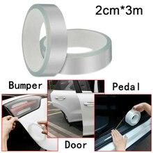 2cm * 3M Universal coche Anti-colisión lateral de la puerta del borde del protector de la puerta rascador de la placa de protección de la tira adhesiva para los coches