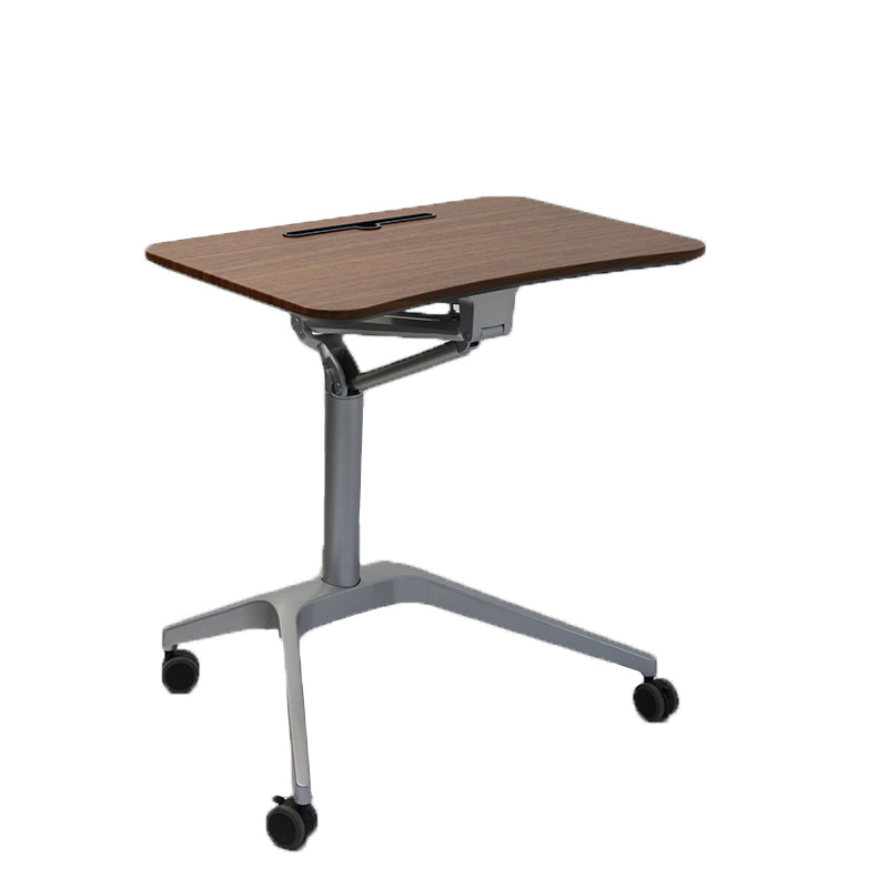 Stand-up Pneumatic Automatic Lifting Table Computer Office Lazy Bedside Adjustable Mobile Speech Training Desk