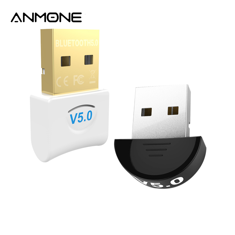 ANMONE Bluetooth Adapter 5.0 USB Computer PC Mouse Laptop Dongle Wireless WiFi Audio Receiver Transmitter Mini USB Transmisor