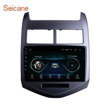 """Seicane Android 9.1 9 """"araba GPS multimedya oynatıcı 2010 2011 2012 2013 Chevy Chevrolet AVEO navigasyon Stereo desteği DVR tsk"""