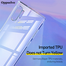 Transparent Soft TPU Silicone Cover Oppselve For Samsung Note10 Plus Non-Slip Design Utral Thin Clear Case